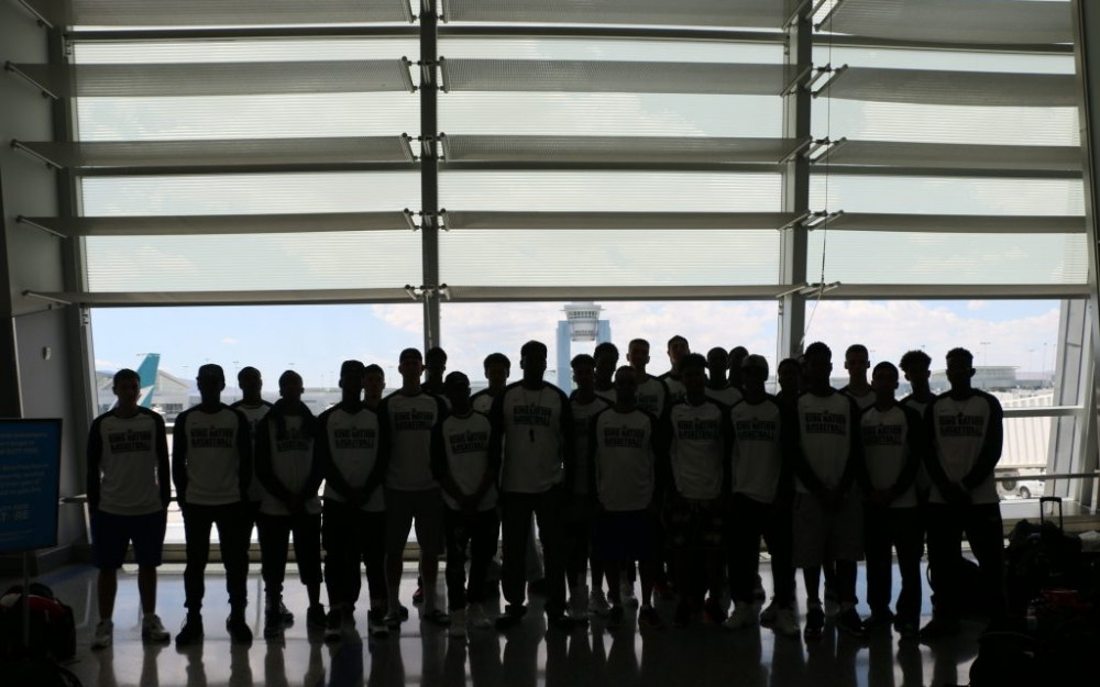 A silhouette of the Northern Kings at the airport in Las Vegas, Nevada. Luke Galati Photography/King Nation Basketball