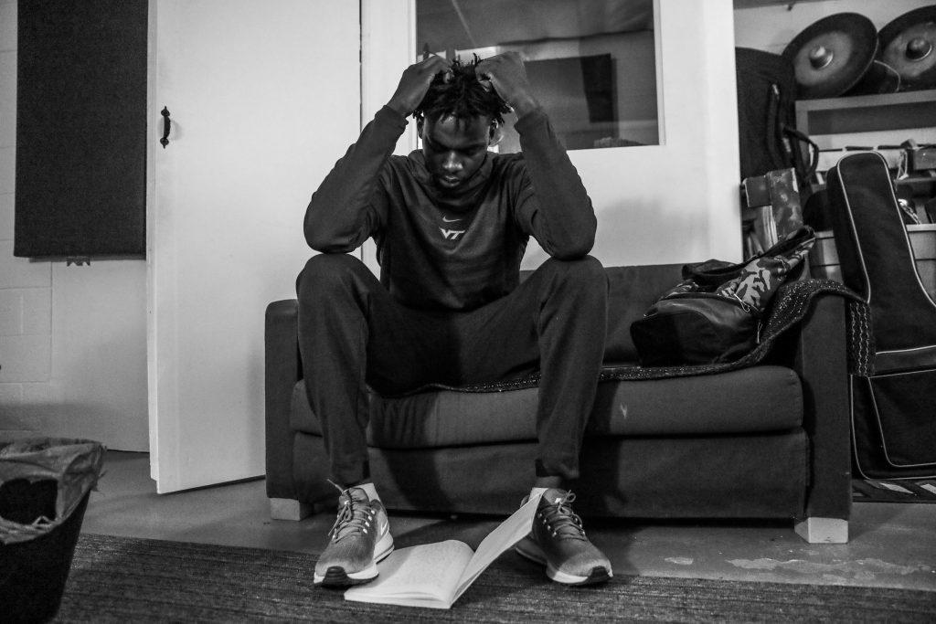 Jonathan Kabongo in the studio. Photo by Luke Galati