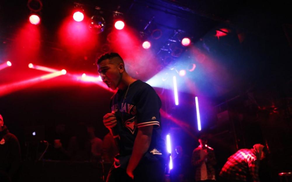 Mississauga's 'sweeterman', Ramriddlz, performs in Toronto. Photo by Luke Galati.