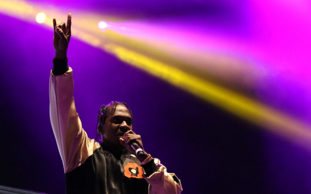 Pusha-T performs on stage in Toronto. Photo by Luke Galati.