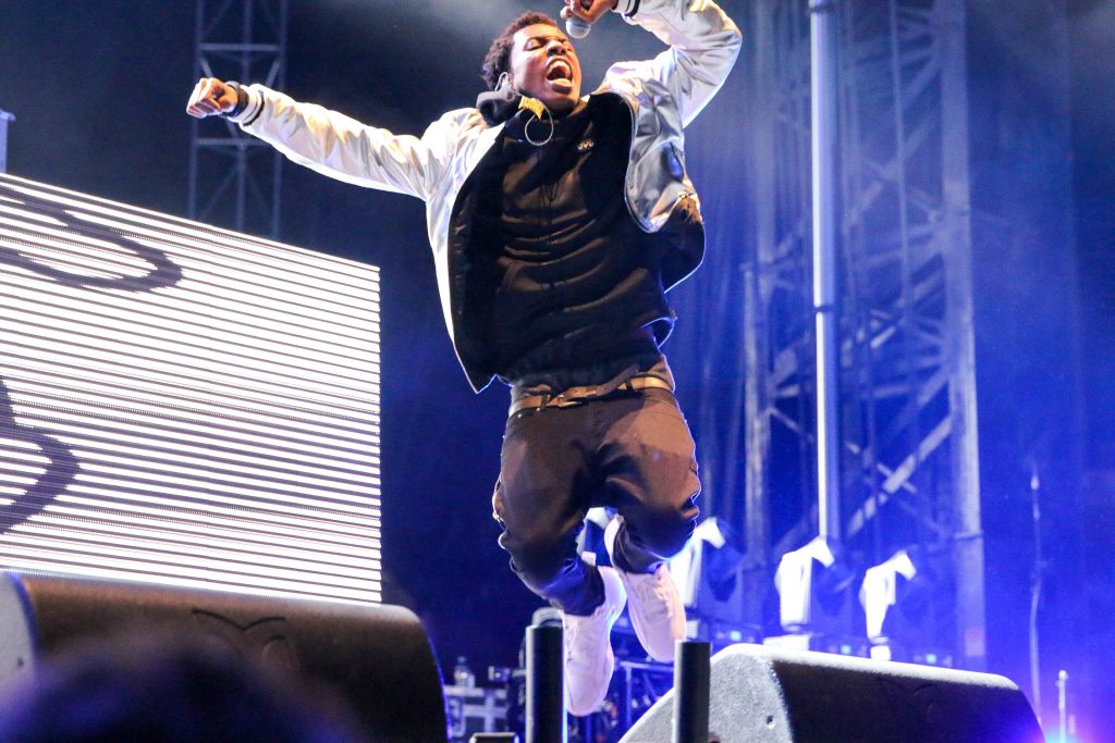 OVO's Roy Woods, jumps on stage. Outta here like NASA. Luke Galati Photography