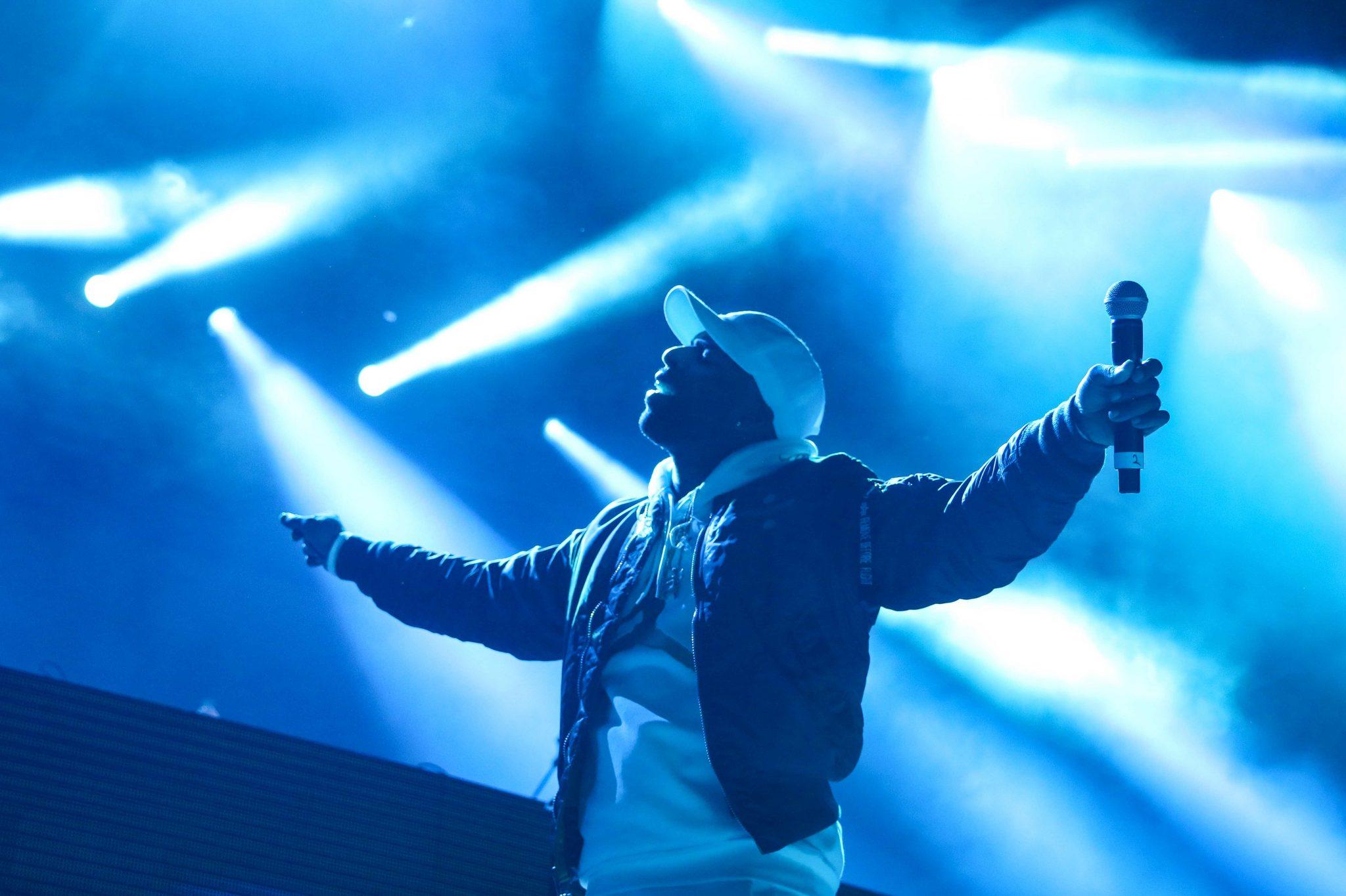 Toronto's Daniel Daley, DVSN, performs on stage in Toronto. Photo taken by Luke Galati.