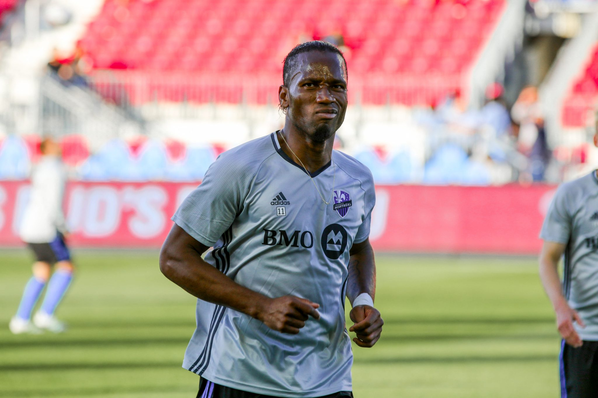 Didier Drogba during warmups at BMO Field. Luke Galati Photography