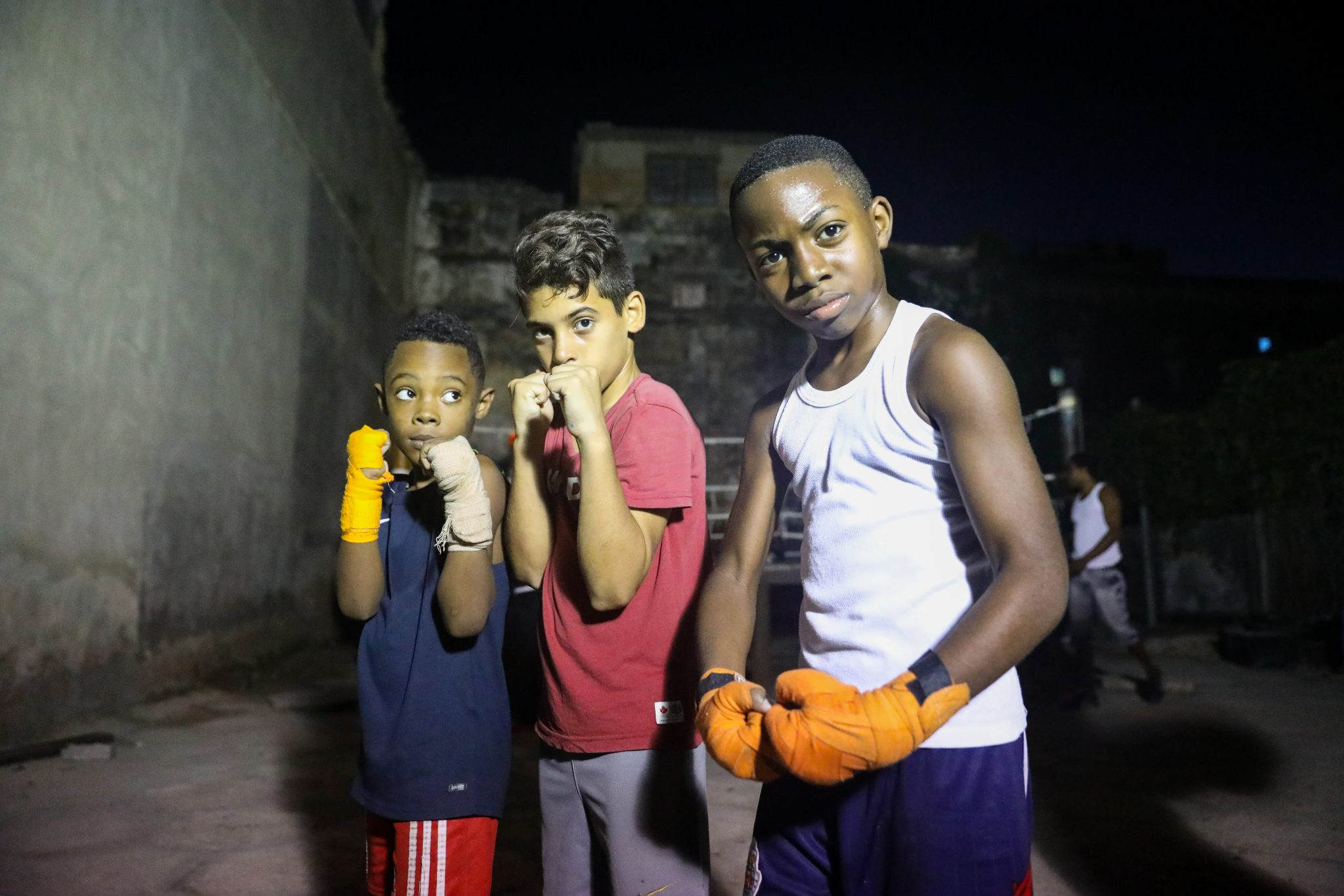 The boys of Soledad Street at Gimnasio de Boxeo Centro Habana. Photography by Luke Galati