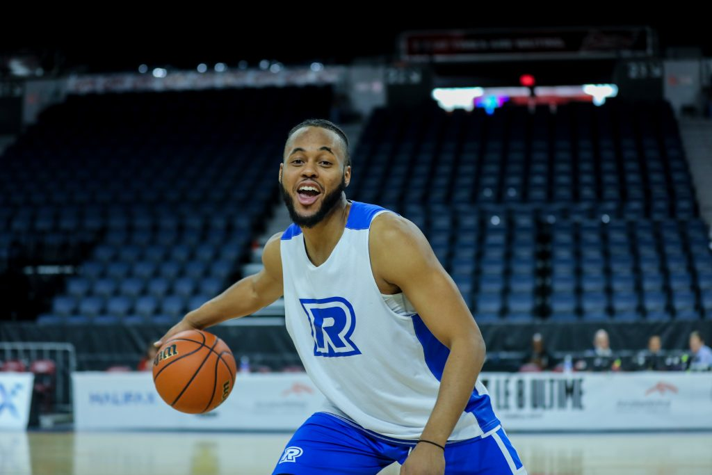 Chase Vassell poses for a photo in Halifax at the Usports national championship during a Ryerson Rams practice. Shot for The Ryersonian by Luke Galati.