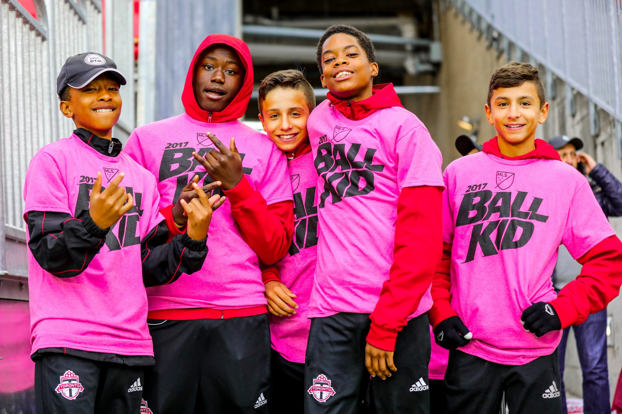 Toronto FC academy player's squad up at BMO Field. Photo by Luke Galati