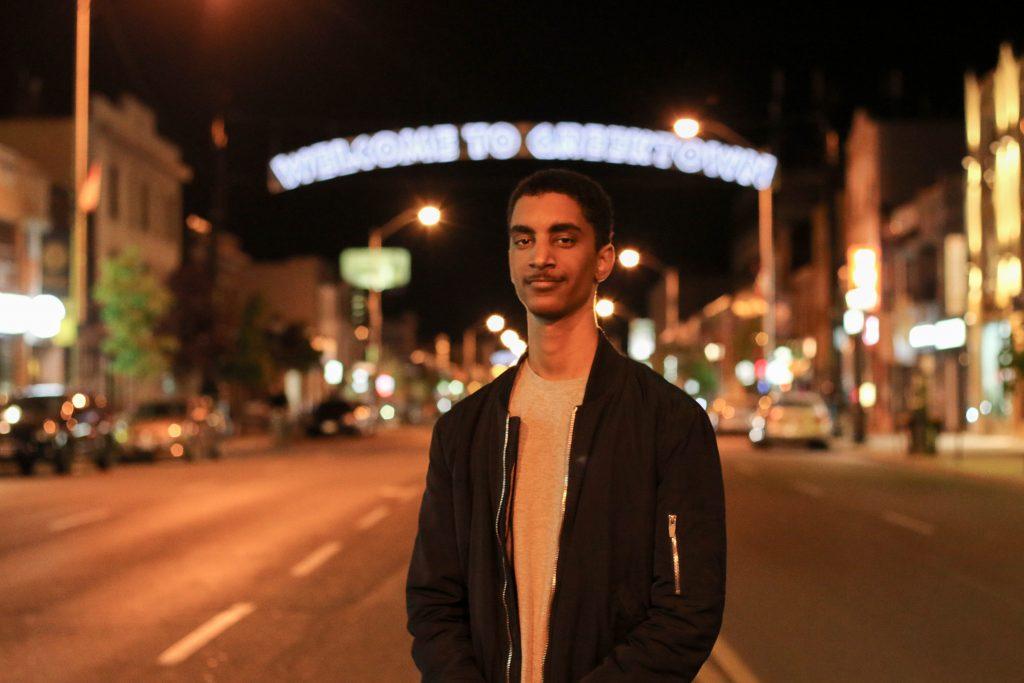 Aron Berhane, shot in his local community of Greektown by Pape and Danforth. Photo by Luke Galati