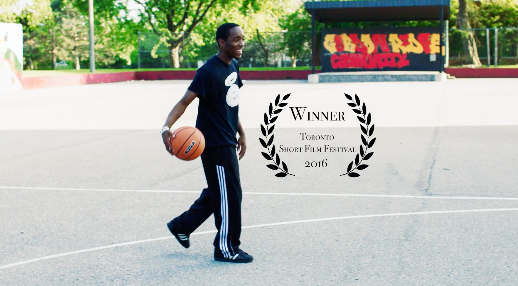 Eastern Commerce's Jason McDonald seen in his local basketball court in Scarborough's Gordonridge Place. Eastern won the award for best documentary at the 2016 Toronto Short Film Festival