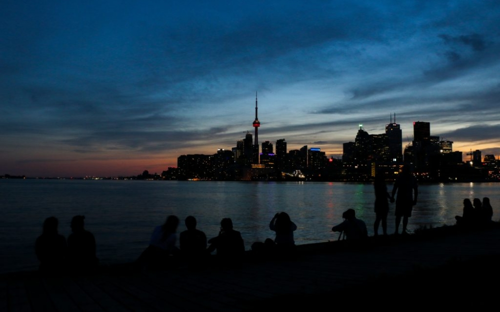 Toronto's sunset at Polson Pier. Photo by Luke Galati