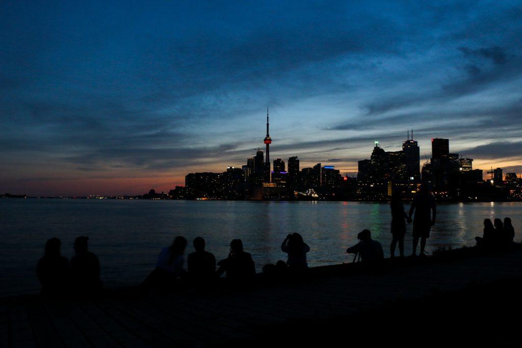 Toronto's sunset at Polson Pier. Photo by Luke Galati