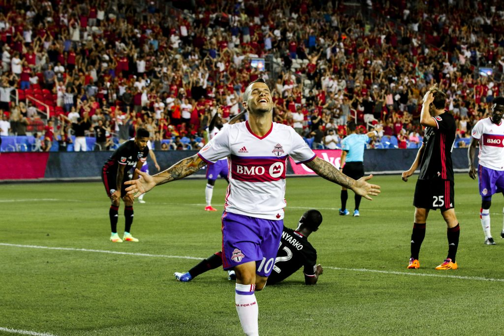 Giovinco scores the hat-trick at BMO Field in front of the fans. Luke Galati Photography 2016