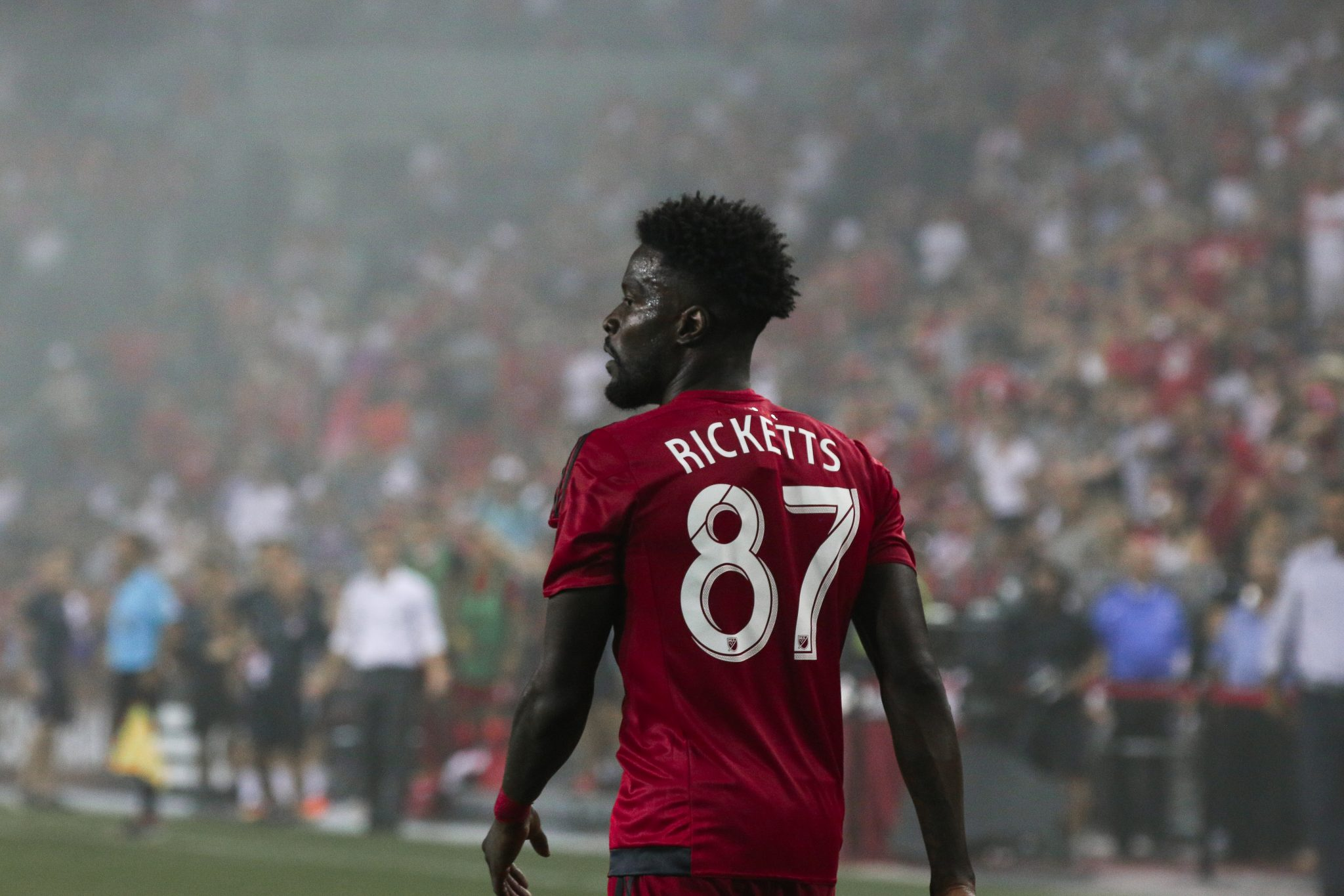 A portrait of Toronto FC's Tosaint Ricketts. Luke Galati Photography 2016