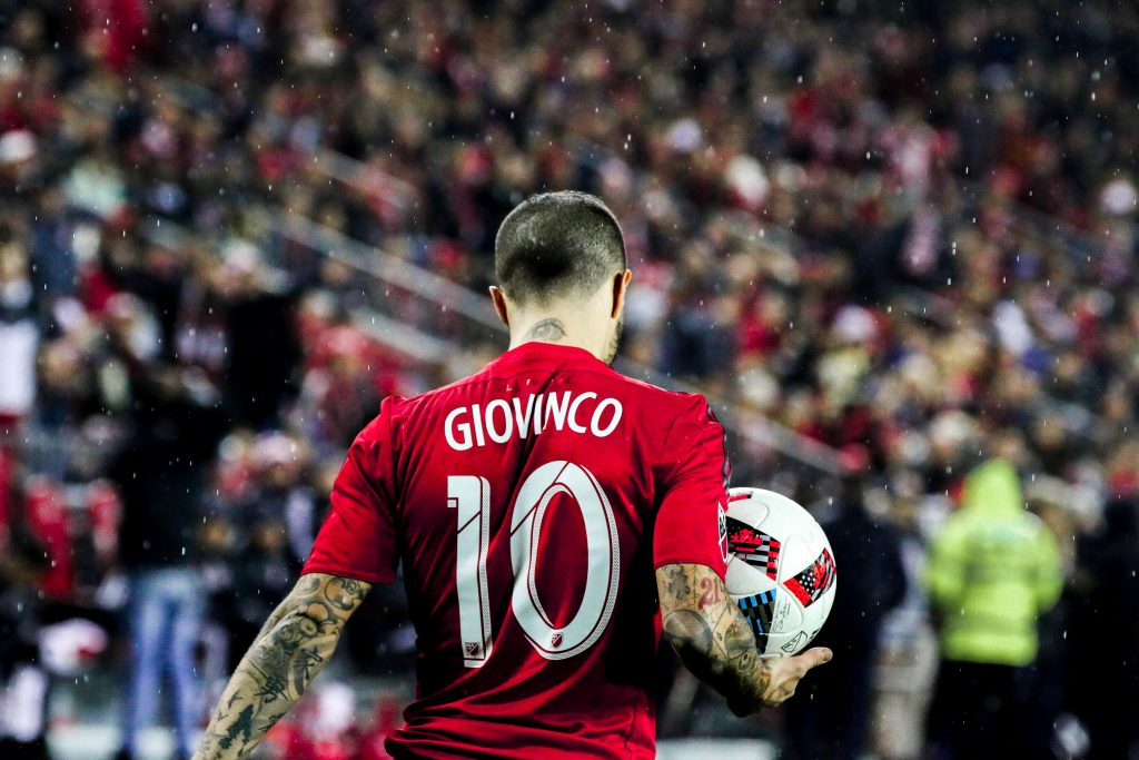 Sebastian Giovinco during the 2016 Eastern Conference Finals as Toronto FC won an unforgettable game against the Montreal Impact. Luke Galati Photography 2016