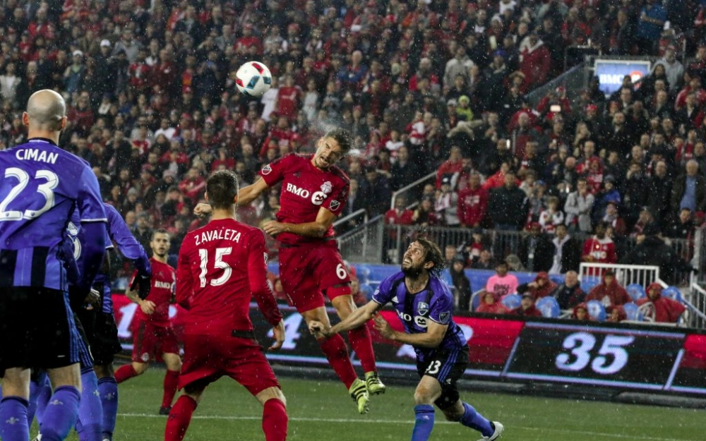 Nick Hagglund with the header in the Eastern Conference Finals against Montreal. Photo taken by Luke Galati/SB Nation