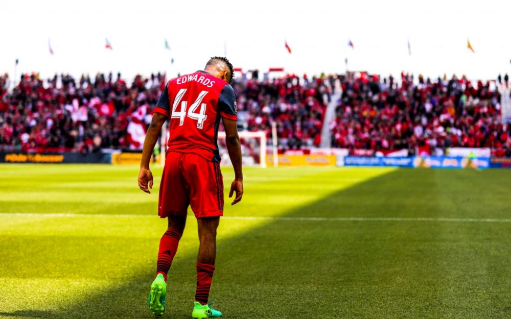 Raheem Edwards of Toronto FC, photo taken in 2017 by Luke Galati.