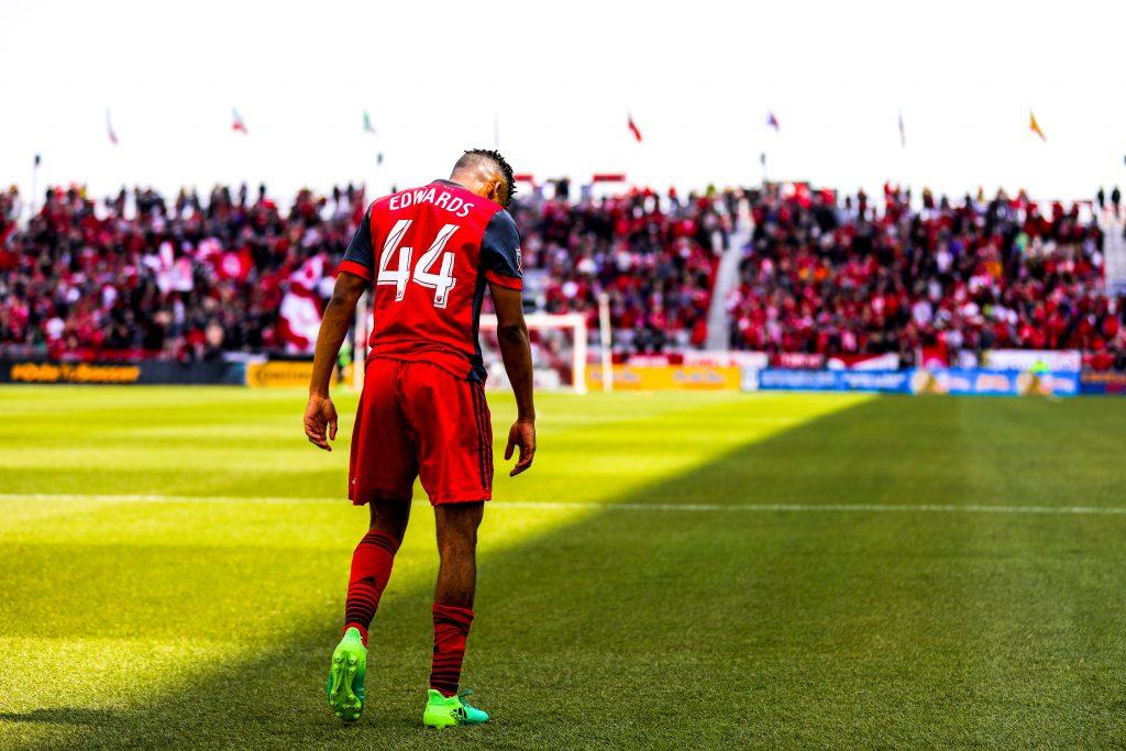 Raheem Edwards of Toronto FC, photo taken in 2017 by Luke Galati.