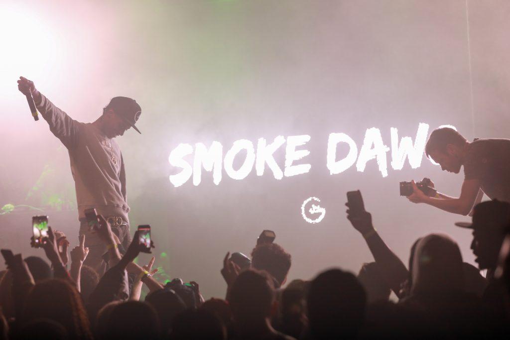 Toronto rapper, Smoke Dawg photographed at Toronto's 2017 uTOpia Music Festival.