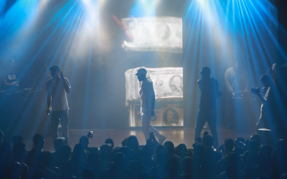 Jimmy Prime, Donnie & Jay Whiss on stage at a Toronto concert. Photo by Luke Galati.